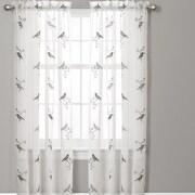 Lush Decor Elena Window Curtain Panels (Set of 2); Gray