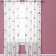 Lush Decor Elena Window Curtain Panels (Set of 2); Pink / Purple / Turquoise