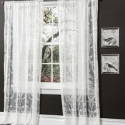 Lush Decor Anya Window Curtain Panel (Set of 2); White