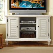 Woodhaven Hill Eliza Corner TV Stand; Brushed White