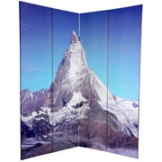 Oriental Furniture 72'' x 63'' Double Sided Matterhorn / Everest 4 Panel Room Divider