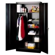 Tennsco Deluxe 2 Door Storage Cabinet; Black