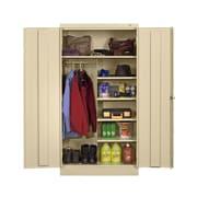 Tennsco Standard 2 Door Storage Cabinet; Black