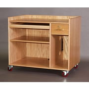SMIProducts Training Table w/ Single Shelf; Medium (Golden Oak) Stained