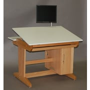 SMIProducts PD Series Computer Station w/ Keyboard Tray and Tower CPU Cabinet