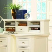 Woodhaven Hill 8891 Series Small Desk Hutch; White