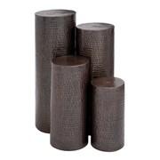 Woodland Imports 4 Piece Pedestal Plant Stand Set