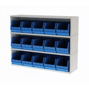 Charnstrom Mail Sorter with 15 Removable Plastic Bins; Putty
