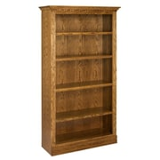 A&E Wood Designs Britania 72'' Standard Bookcase; Unfinished