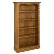 A&E Wood Designs Americana 72'' Standard Bookcase; Light