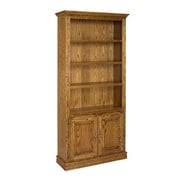 A&E Wood Designs Britania 72'' Standard Bookcase; Light