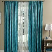 Lush Decor Polka Dots Blackout Window Single Curtain Panel (Set of 2); Aqua