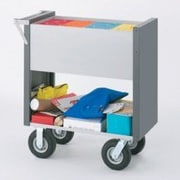 Charnstrom Medium Solid File Cart with Casters; Molded Rubber
