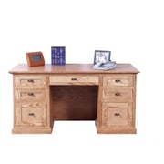 Forest Designs Executive Desk with Double Pedestal; Spice Alder