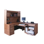 Forest Designs Computer Desk and Return; Chestnut Oak