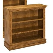 A&E Wood Designs Britania 36'' Standard Bookcase; Dark