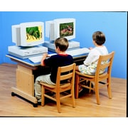 Childcraft Wood Adjustable Height Student Computer Desk