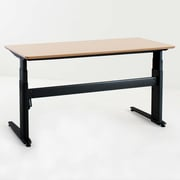 ConSet 501-27 Series Computer Desk with Beech Veneer Top; Black