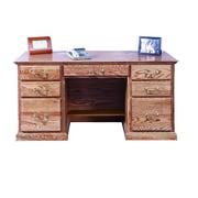 Forest Designs Double Pedestal Executive Desk; Black Adler