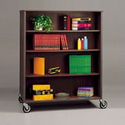 Fleetwood Double Sided 60'' Bookcase; Oiled Cherry/Black