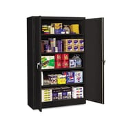 Tennsco Jumbo 48'' Combination Storage Cabinet; Black