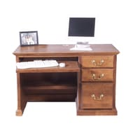Forest Designs Computer Desk with Keyboard Pullout; Black Adler