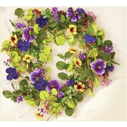 WorthImports Mixed Floral Wreath with Pansies