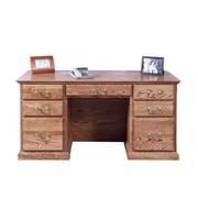Forest Designs Executive Desk with Corner Drawer; Black Adler