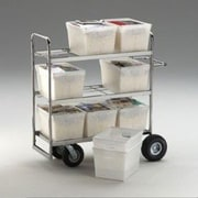 Charnstrom File Cart with 9 Totes; Air Casters / Tires