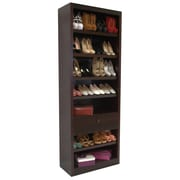 Concepts in Wood Shoe Rack with Drawer; Cherry