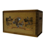 Evans Sports Wooden Accessory Box w/ ''Wildlife Series'' Quail Print