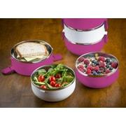 Modernhome 3 Tier Stainless Steel Lunch Box; Magenta
