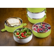Modernhome 3 Tier Stainless Steel Lunch Box; Chartreuse Green