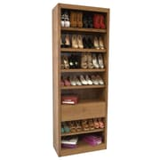 Concepts in Wood Shoe Rack with Drawer; Dry Oak