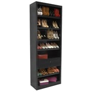 Concepts in Wood Shoe Rack with Drawer; Espresso