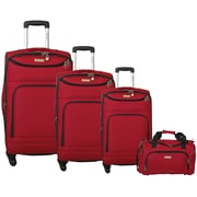 McBrine Luggage 4 Piece Luggage Set; Red