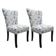 Sole Designs Bella Side Chair (Set of 2); Blue