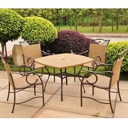 International Caravan Valencia Wicker Resin 5 Piece Patio Dining Set