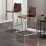 Holly & Martin Holly & Martin 29.25'' Bar Stool (Set of 2); Espresso