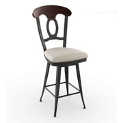 Amisco Countryside Style 30.75'' Swivel Bar Stool with Cushion