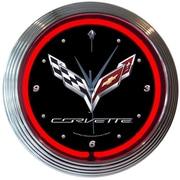 Neonetics 15'' Corvette C7 Neon Wall Clock