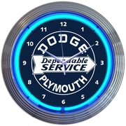 Neonetics 15'' Dodge Dependable Service Neon Wall Clock