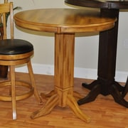 ECI Furniture Adjustable Height Pub Table; Burnished Oak