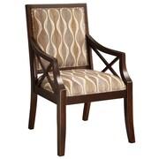 Coast to Coast Imports Fabric Arm Chair in Espresso