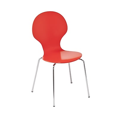 Holly & Martin Conbie Side Chair (Set of 2); Red / Orange