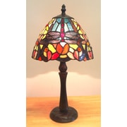 Fine Art Lighting Tiffany 15'' H Table Lamp with Novelty Shade