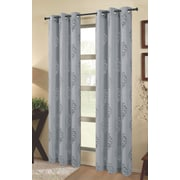Dainty Home Tulip Outdoor Window Curtain Panels (Set of 2); Silver