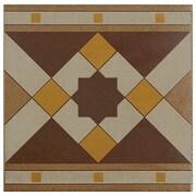 EliteTile Cementa 7'' x 7'' Ceramic Glazed Tile in Geo Cenefa