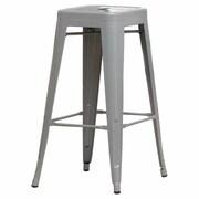 Hokku Designs Stilletta 30'' Bar Stool (Set of 2); Gray