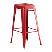 Hokku Designs Stilletta 30'' Bar Stool (Set of 2); Red